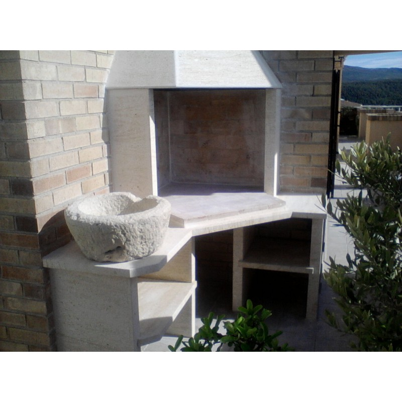 Barbacoa de piedra natural rinconera ecospain - Piedra para barbacoa ...