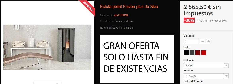 Estufa pellet Fusion plus de Skia