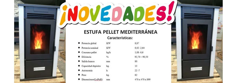 Estufa de pellet Mediterranea