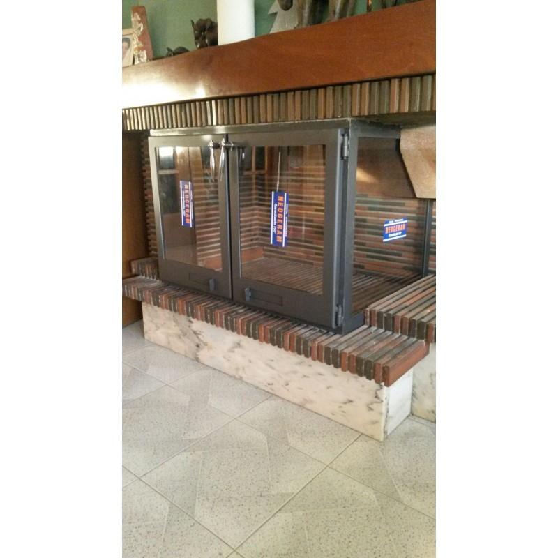 Puertas para chimenea con vision lateral ecospain for Puertas para chimeneas