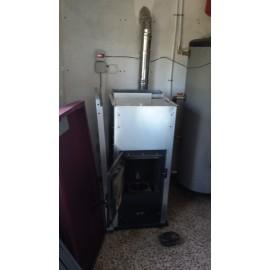 Caldera para radiadores y acs ecospain mediterranea for Caldera de pellets para radiadores