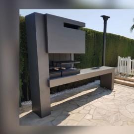 Barbacoas instaladas 2 ecospain mediterranea for Asadores modernos para patio