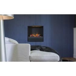 Chimenea eléctrico Opti-Myst ALBANY con caja calefactora