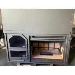 duo - asador- horno con puerta de guillotina